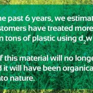 1 millón de toneladas de envases biodegradables d2w ™ protegiendo el medio ambiente en 6 meses